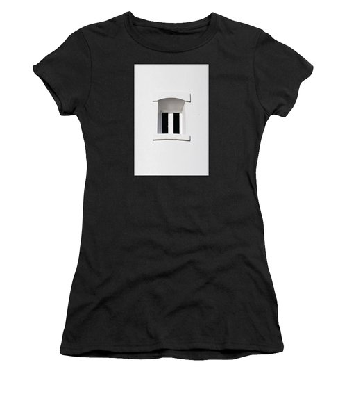 A Window In White Women's T-Shirt (Athletic Fit)