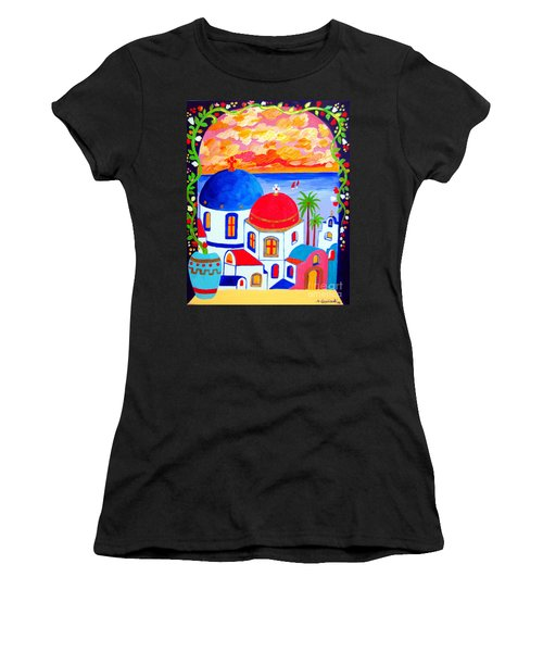 A Window Over Santorini Women's T-Shirt (Athletic Fit)