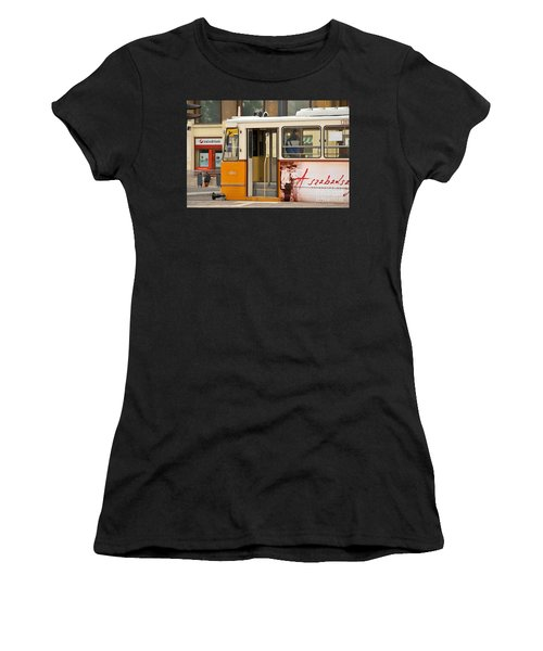 A Yellow Tram On The Streets Of Budapest Hungary Women's T-Shirt