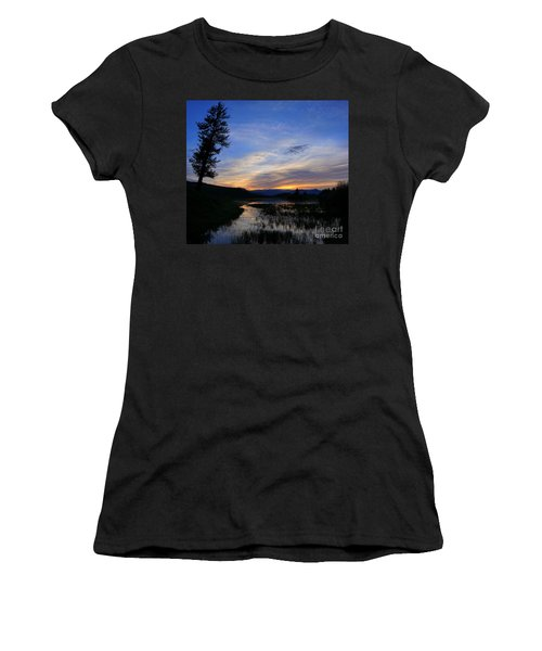 A Yellowstone Lake Before Sunrise Women's T-Shirt