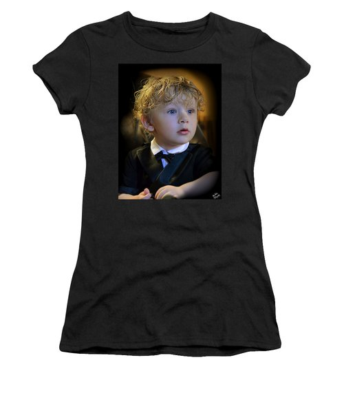 Women's T-Shirt (Junior Cut) featuring the photograph A Young Gentleman by Ally  White