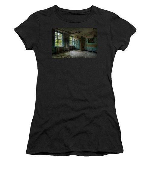 Abandoned Places - Asylum - Old Windows - Waiting Room Women's T-Shirt