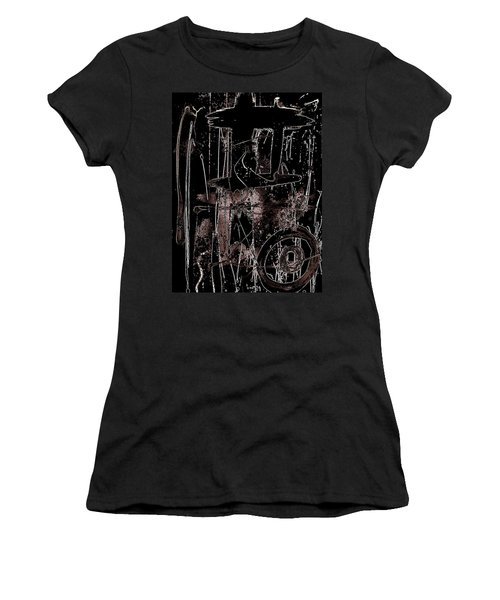 Women's T-Shirt (Junior Cut) featuring the painting Abidjan by Cleaster Cotton