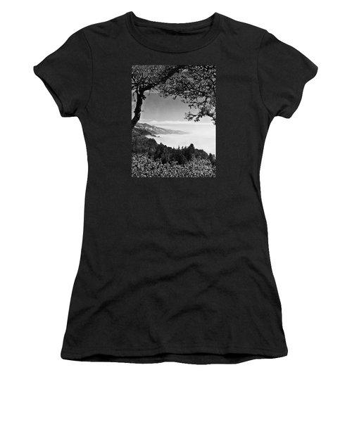 Above Nepenthe In Big Sur Women's T-Shirt (Junior Cut) by Joseph J Stevens