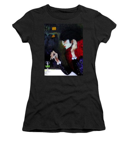 Absinthe Drinker After Picasso Women's T-Shirt (Athletic Fit)