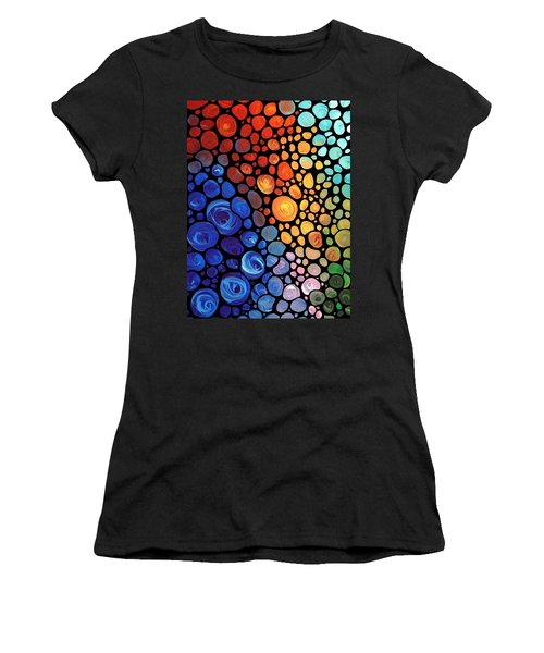 Abstract 1 - Colorful Mosaic Art - Sharon Cummings Women's T-Shirt