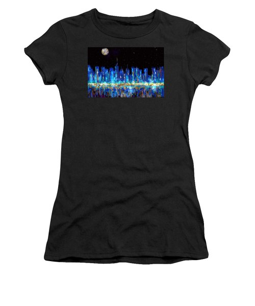 Abstract City Skyline Women's T-Shirt (Athletic Fit)