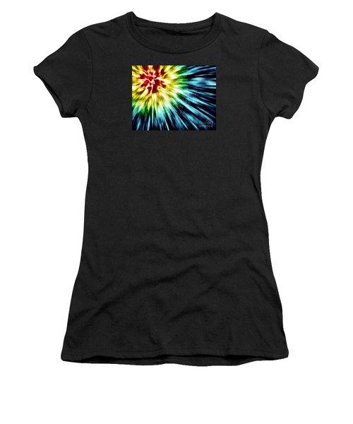 Abstract Dark Tie Dye Women's T-Shirt