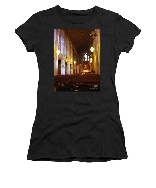 Abstract - Egner Memorial Chapel Interior Women's T-Shirt (Athletic Fit)