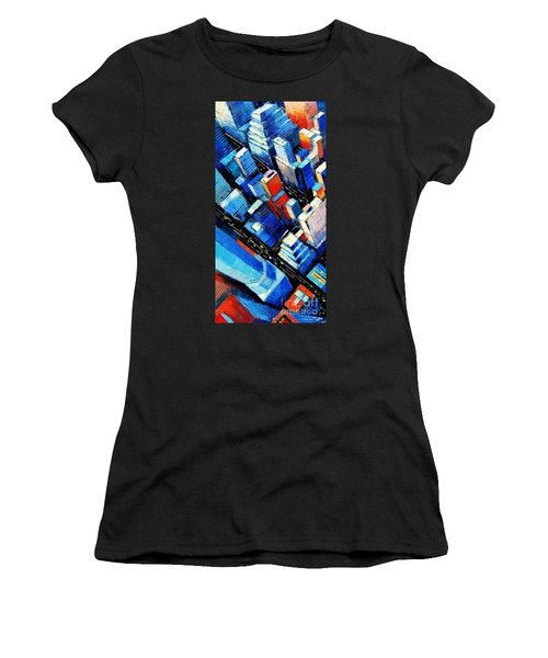 Abstract New York Sky View Women's T-Shirt (Athletic Fit)