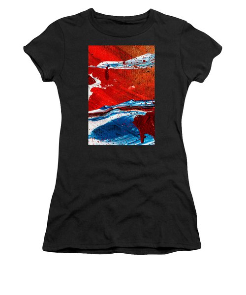 Abstract Original Artwork One Hundred Phoenixes Untitled Number Three Women's T-Shirt (Athletic Fit)