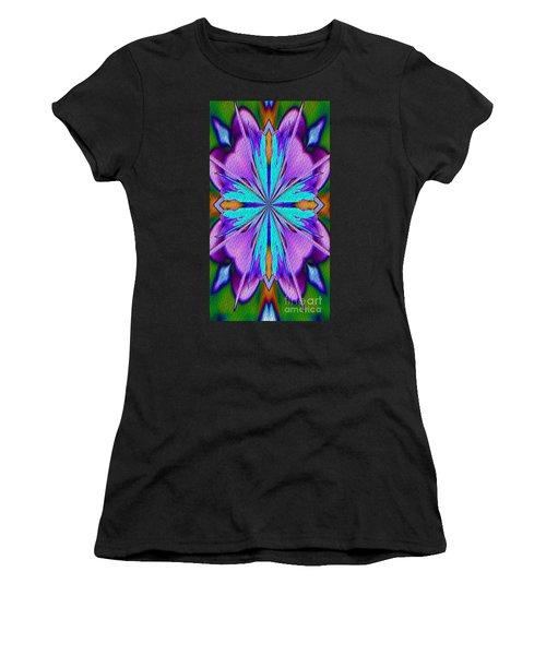 Abstract Purple Aqua And Green Women's T-Shirt