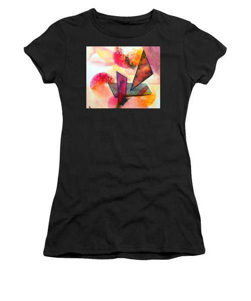 Abstract Shapes Women's T-Shirt (Athletic Fit)
