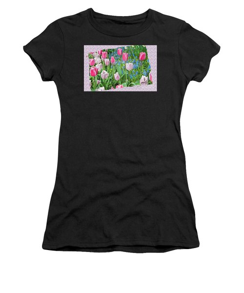 Abstract Spring Floral Fine Art Prints Women's T-Shirt