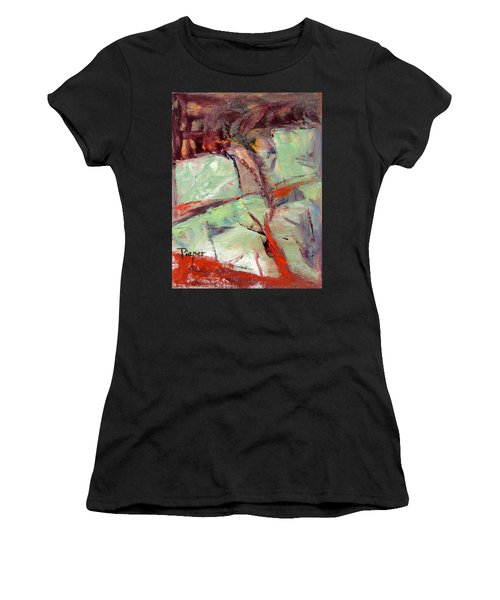 Abstract With Cadmium Red Women's T-Shirt