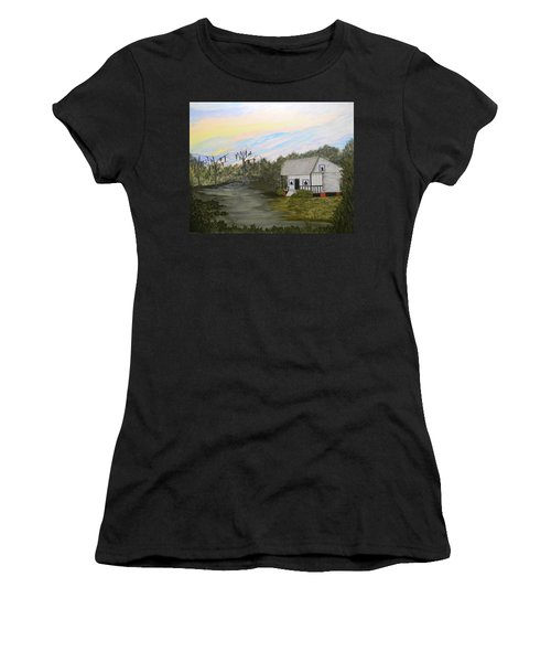 Acadian Home On The Bayou Women's T-Shirt (Athletic Fit)