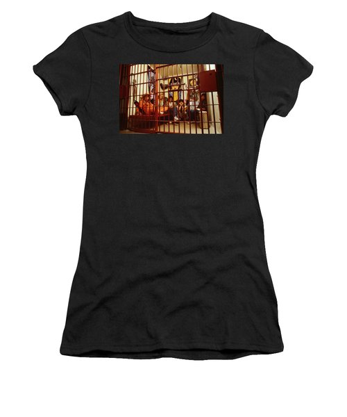 Aerosmith - In A Cage 1980s Women's T-Shirt (Junior Cut) by Epic Rights