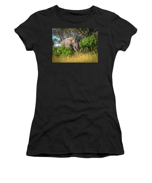 African Bush Elephant Women's T-Shirt (Athletic Fit)