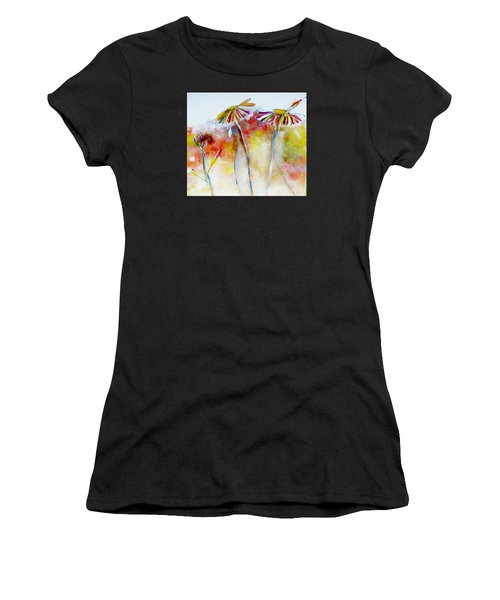 African Daisy Abstract Women's T-Shirt (Athletic Fit)