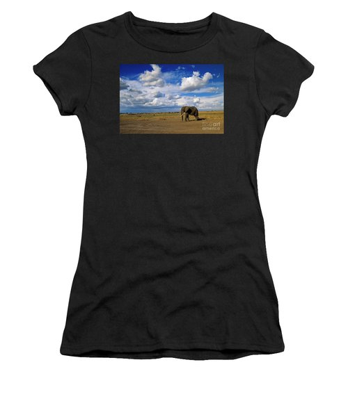 African Elephant Walking Masai Mara Women's T-Shirt
