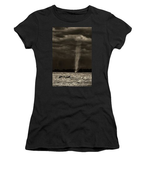 African Whirlwind Kenya In Black And White. Women's T-Shirt