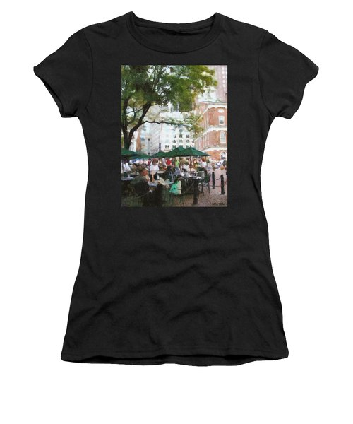 Afternoon At Faneuil Hall Women's T-Shirt (Athletic Fit)