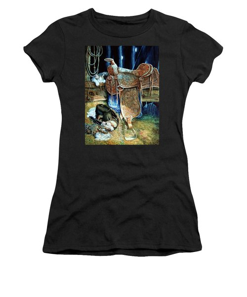 Women's T-Shirt (Athletic Fit) featuring the painting Afternoon Delight by Hanne Lore Koehler