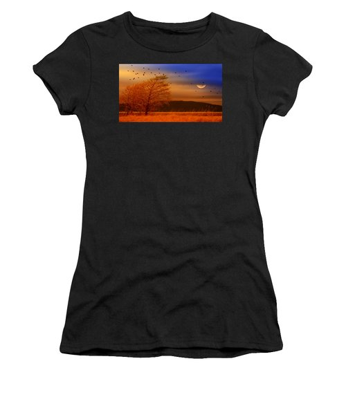 Against The Wind Women's T-Shirt (Athletic Fit)