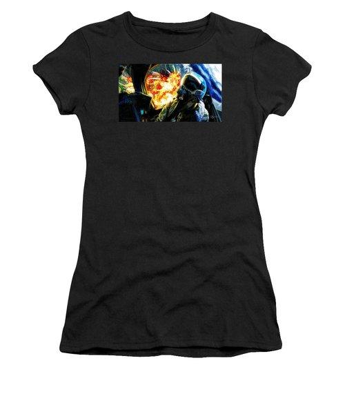 Air To Ground Women's T-Shirt (Junior Cut) by Dave Luebbert