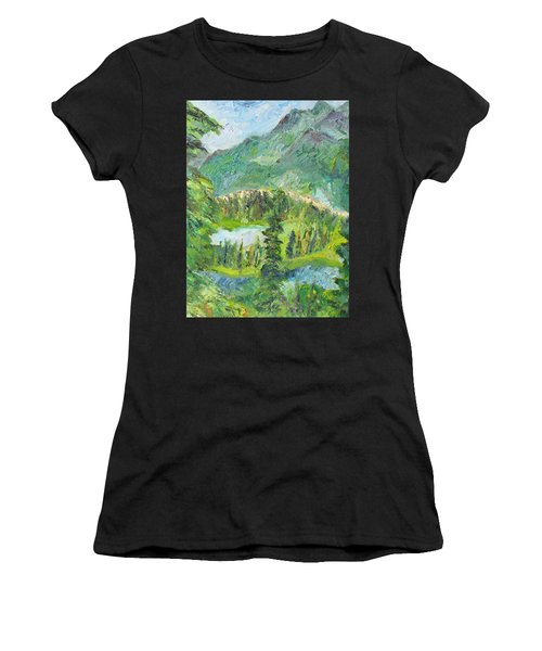 Alaska  Mountain Range Women's T-Shirt (Athletic Fit)