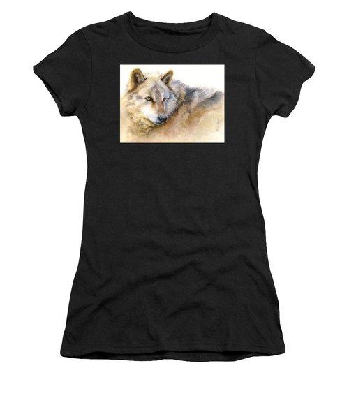 Alaskan Gray Wolf Women's T-Shirt (Athletic Fit)