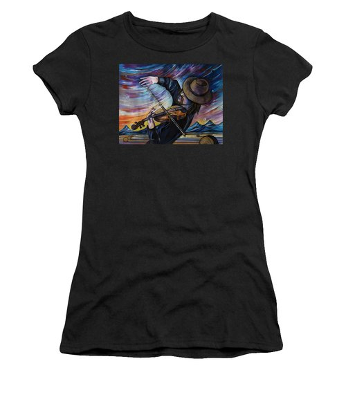 Alberta Fiddle Women's T-Shirt (Athletic Fit)