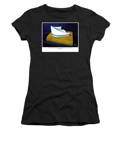 Women's T-Shirt (Junior Cut) featuring the painting Alderson-broaddus College by Marlyn Boyd