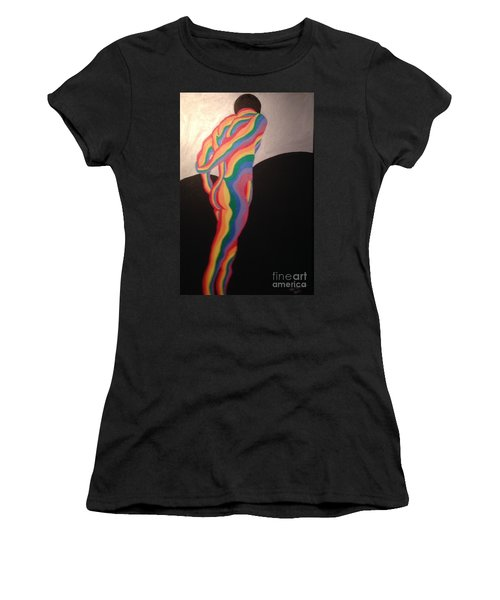 Women's T-Shirt (Junior Cut) featuring the painting All Mine by Erika Chamberlin
