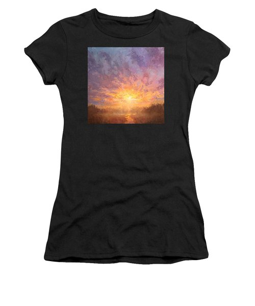 Impressionistic Sunrise Landscape Painting Women's T-Shirt