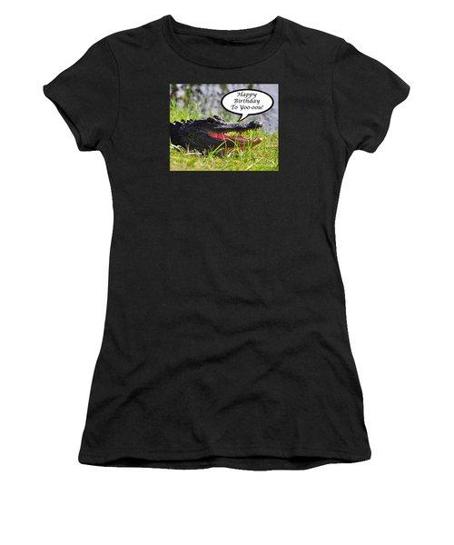 Alligator Birthday Card Women's T-Shirt