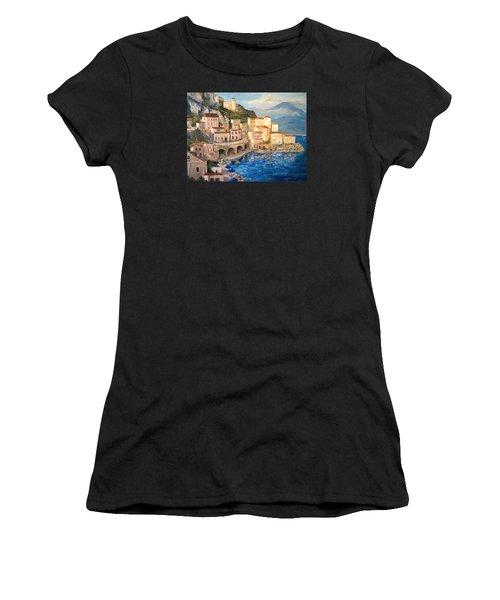 Amalfi Coast Highway Women's T-Shirt (Athletic Fit)
