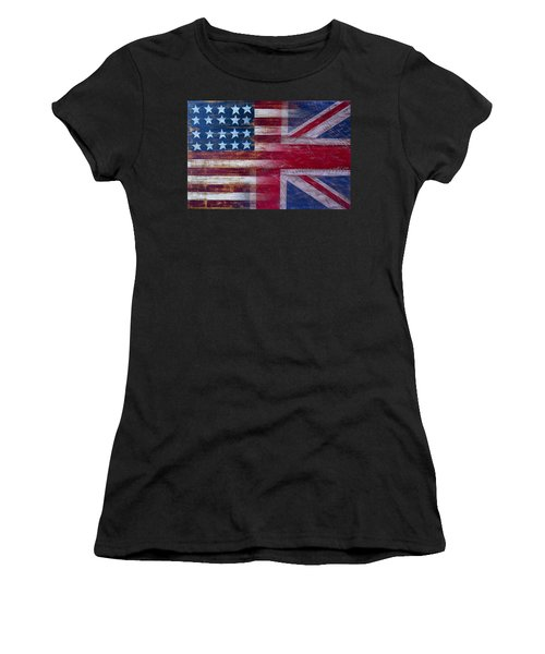 American British Flag Women's T-Shirt (Athletic Fit)