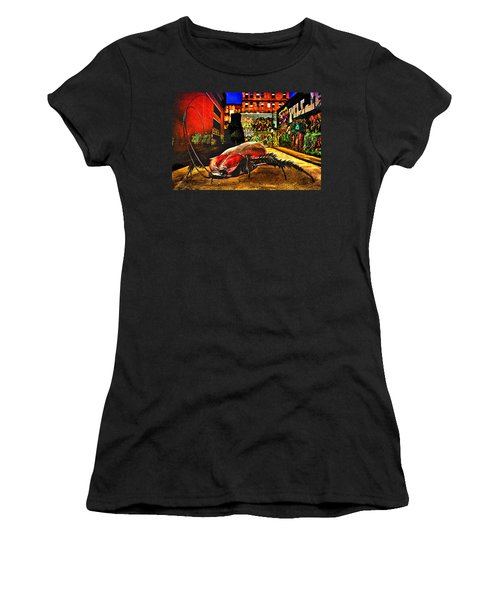 American Cockroach Women's T-Shirt (Junior Cut) by Bob Orsillo