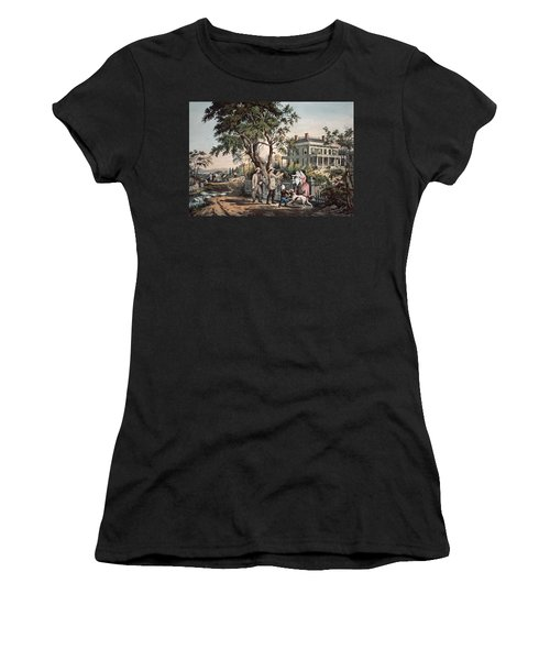 American Country Life  October Afternoon, 1855  Women's T-Shirt