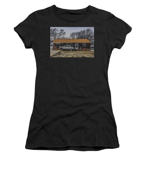 Women's T-Shirt (Junior Cut) featuring the photograph American Dream 1952 by Ray Congrove