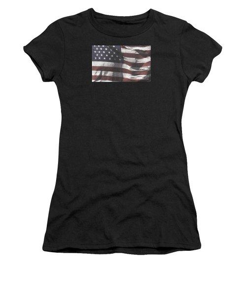 Historical Documents On Us Flag Women's T-Shirt