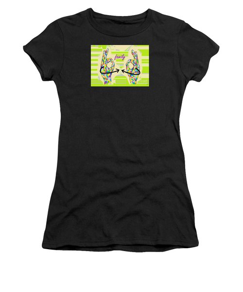 American Sign Language Family                                                    Women's T-Shirt (Athletic Fit)