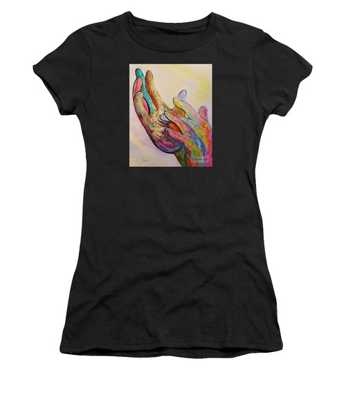 American Sign Language Jesus Women's T-Shirt (Athletic Fit)