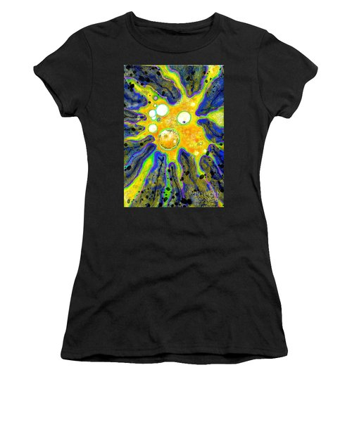 Women's T-Shirt (Junior Cut) featuring the painting Amoeba Senescent by Carol Jacobs