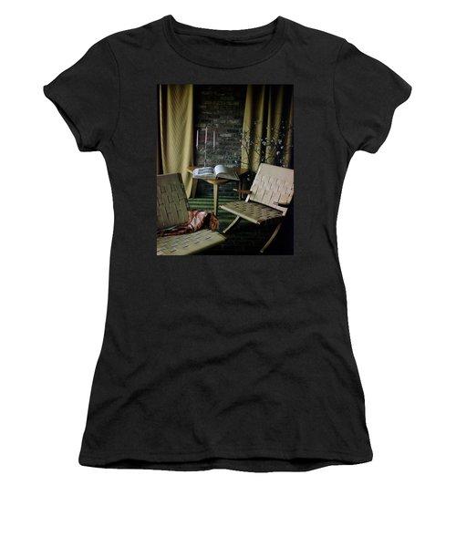 An Armchair Beside A Table And An Old Book Women's T-Shirt