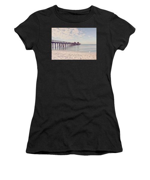 An Early Morning - Naples Pier Women's T-Shirt (Athletic Fit)