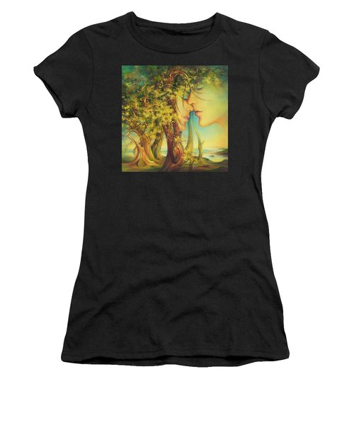 An Encounter At The Edge Of The Forest Women's T-Shirt (Athletic Fit)