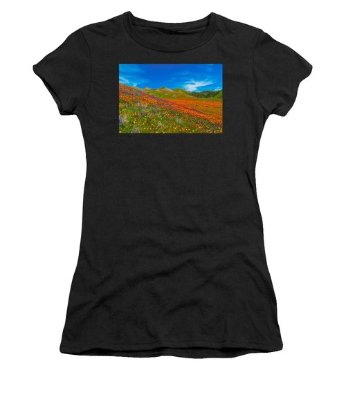 An Ocean Of Orange  Women's T-Shirt (Athletic Fit)