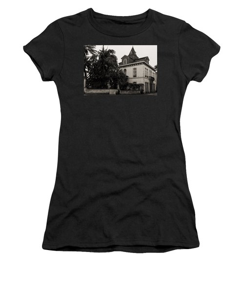 Ancient Hotel And Lush Trees  Women's T-Shirt (Athletic Fit)